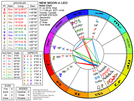 August 2019 ☆ New Moon in Leo | The Low-Down on the Far-Out