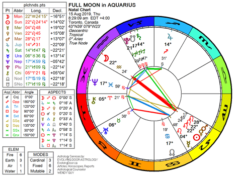 August 2019 ☆ Full Moon in Aquarius | The Low-Down on the Far-Out on