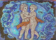 Gemini, the Twins, from mural by George Di Carlo