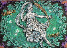 Virgo, the Maiden, from mural by George Di Carlo