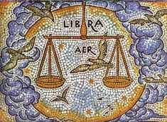 Libra, the Scales, from mural by George Di Carlo