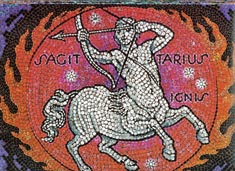 Sagittarius, the Centaur Archer, from mural by George Di Carlo