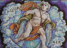 Aquarius, the Water Bearer, from mural by George Di Carlo