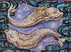 Pisces, the Fishes, from mural by George Di Carlo