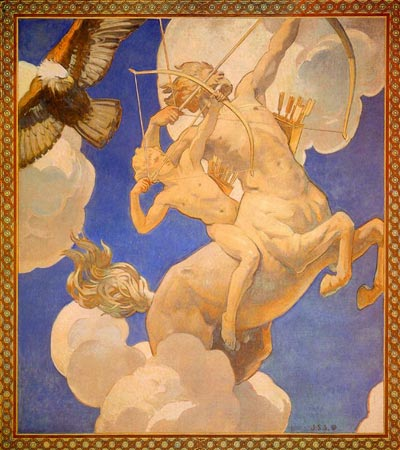 Chiron and Achilles, by John Singer Sargent, 1921