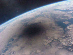 Solar Eclipse shadow on the Earth