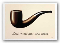 Rene Magritte - The Treachery of Images - Ceci n'est pas une pipe.