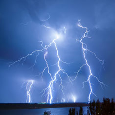 Sabian Symbol for Taurus 2: An electrical storm.
