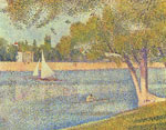 The Seine and la Grande Jatte - Springtime 1888, by Geroge Seurat