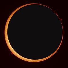 Ring of Fire of the Annular Solar Eclipse