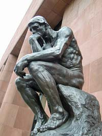 Le Penseure (The Thinker) by Auguste Rodin
