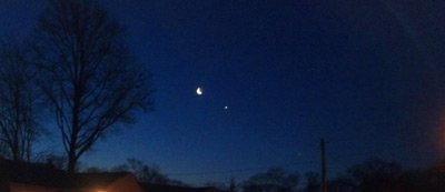 Venus and the Moon just before dawn