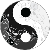 Decorated Yin Yang symbol